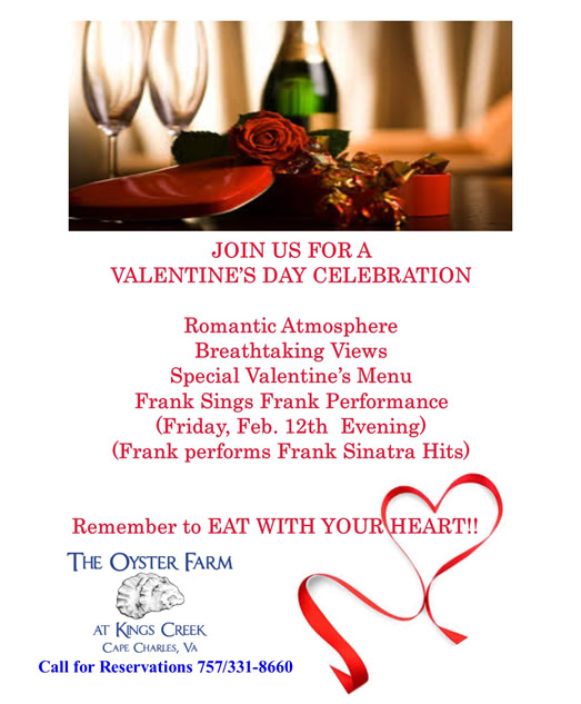 Valentine's Day Celebration - Feb 12 Call for reservations